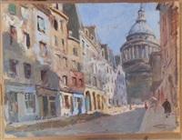 la rue valette et le panthéon by lucien-hector jonas