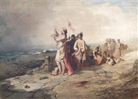 king canute commanding the waves by john ritchie
