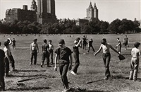 baseball in central park (+ untitled (hungarian debutante ball, smllr; 2 works) by larry fink