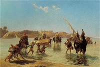 near luxor, upper egypt by paul rudolf linke