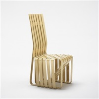 high sticking chair by frank gehry