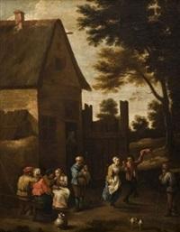 danse devant une auberge by thomas van apshoven