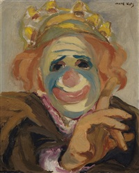 clown - selfportrait by mané-katz