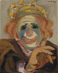 clown - selfportrait by mané-katz