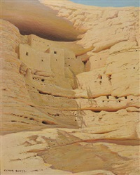 indian cliff dwellings by clyde eugene scott