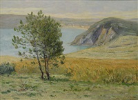 first light of morning, cliffs of morgat by maxime maufra