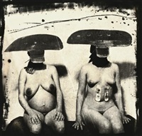 i.d. photograph from purgatory: two women with stomach irritations, new mexico by joel-peter witkin