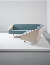 unique 'diamond' sofa, designed for a villa, liguria by gio ponti