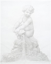 fountain (study) by alphonse legros