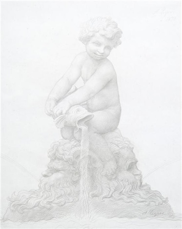 fountain study by alphonse legros