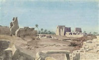 view of karnac, thebes by richard phene spiers