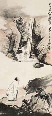 高士临泉图 by zhang daqian