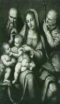 die heilige femilie, nach leonardo da vinci by carl friedrich loeffler