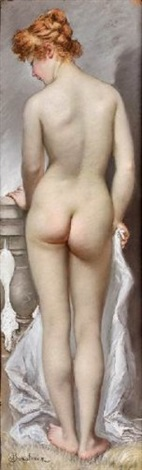 le modèle nu de dos by ladislaus bakalowicz