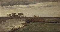 vue du lac d'acboude - hollande by paul joseph constantin gabriël