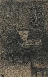 au piano by xavier mellery