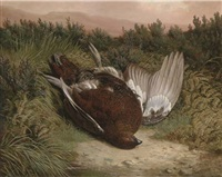 on the grouse moor (+ another, similar; 2 works) by ben hold