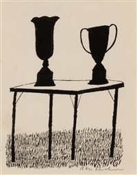 black shilhouettes two ums by ben shahn