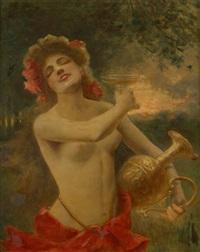 jeune fille nue by paul de laboulaye