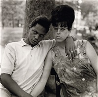 a young man and his pregnant wife in washington square park, nyc by neil selkirk and diane arbus