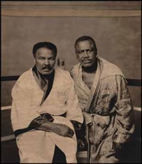 muhammad ali & joe frazier, philadelphia, pa by walter iooss the younger