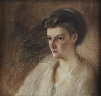 portrait of a lady (2 works) by percy anderson