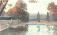 the garden pool by emile ancelet