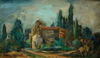 house in a landscape by leo kahn