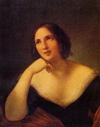 ritratto di ragazza by natale schiavoni
