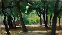 the park in štvanice by rudolph kremlicka