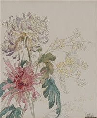 fleurs (5 works) by henri privat-livemont