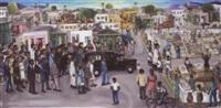a funeral, haiti by wilson bigaud