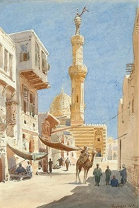 outside the mosque by wilhelm lauter