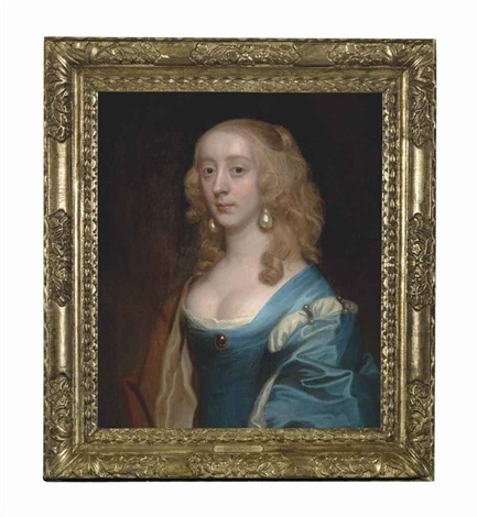 portrait of a lady traditionally identified as elizabeth murray lady tollemache later countess of dysart and duchess of lauderdale 1626 1698 by sir peter lely