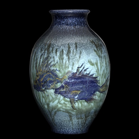 Fish And Sea Vase By Et Hurley By Rookwood Pottery On Artnet