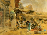the market in jaffa by gustav bauernfeind
