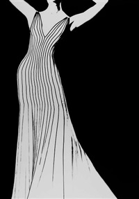 dress by thierry mugler for german vogue by lillian bassman