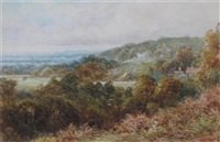 a view towards bath (+ a figure in a forest; 2 works) by walter duncan