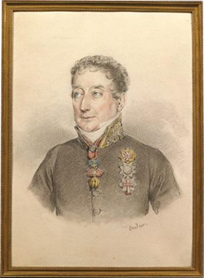 porträt des fürsten clemens wenzel lothar metternich in uniform mit ordensschmuck by johann nepomuk ender