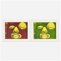 fern verde and fern rouge (2 works) by ed paschke