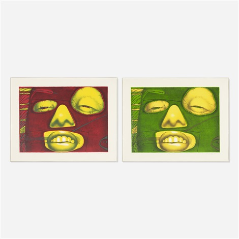 fern verde and fern rouge 2 works by ed paschke