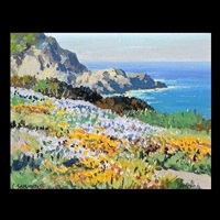 wild flowers - carmel coast by carl sammons