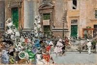 carnaval en el corso romano by mariano josé maría bernardo fortuny y carbó
