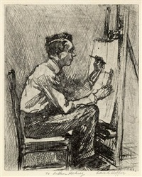portrait of walter tittle (the illustrator) by edward hopper