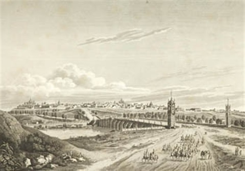 vista de madrid desde el lado de toledo by jacques louis lecerf