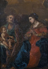 the holy family by jan (joannes sinapius) mostaert