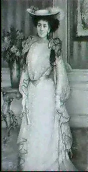 portrait of an elegant lady by pierot voltolina