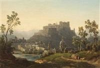 blick auf salzburg by leonhard rausch