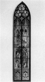 entwurf zu einem kirchenfenster mit glasmalerei by franz jobst