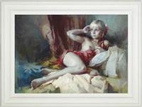 reclining nude by yuriy priyadko